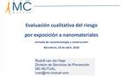 Evaluación cualitativa del riesgo por exposición a nanomateriales - Rudolf Van Der Haar (MC Mutual)